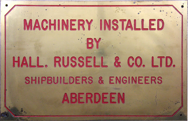 Ship Builder's Plaque
