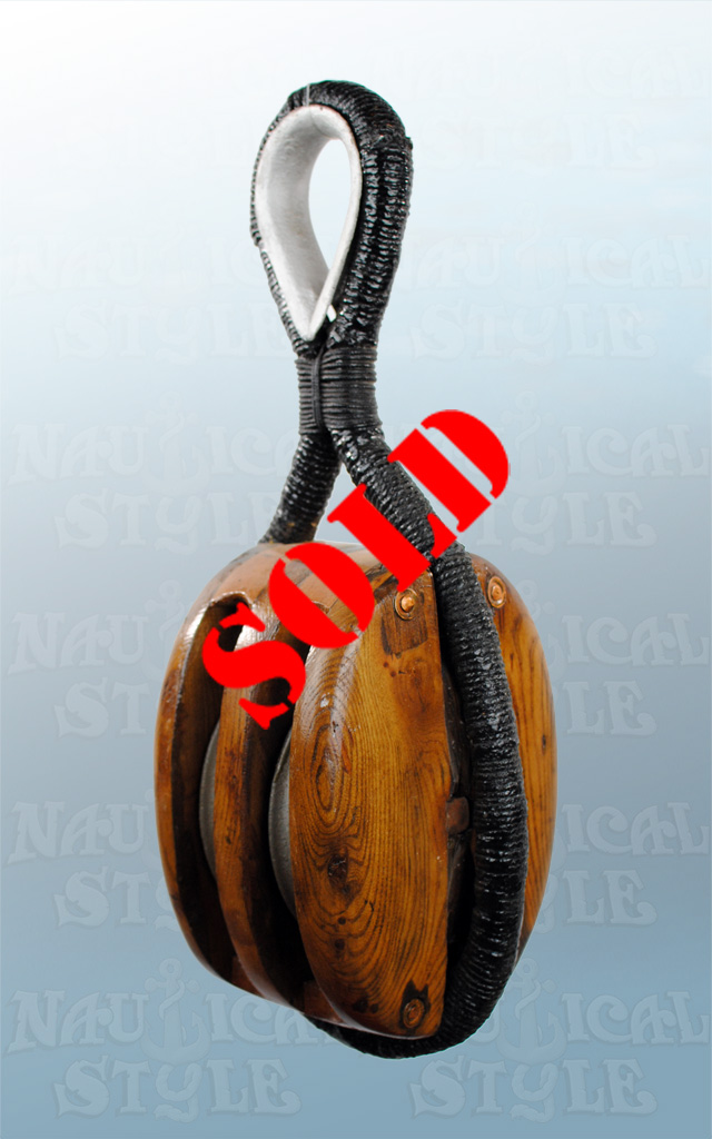 Twin Sheave Pulley/Block - SOLD