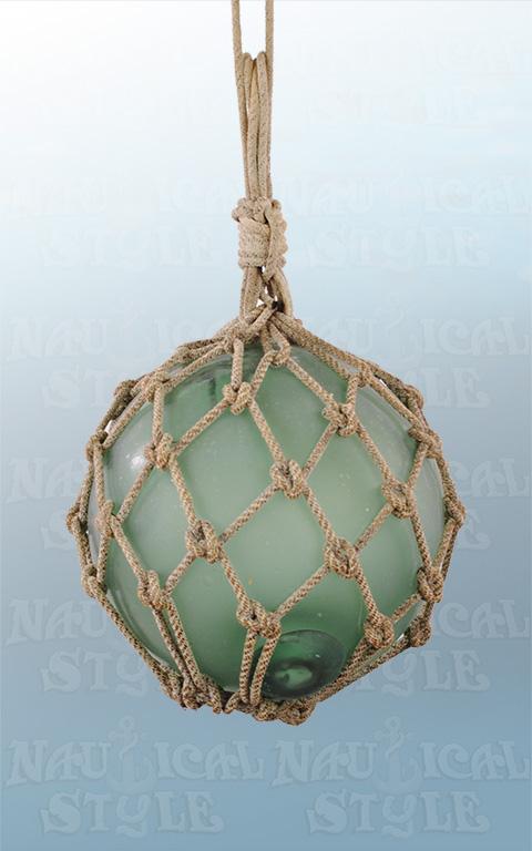 27 cm green glass float
