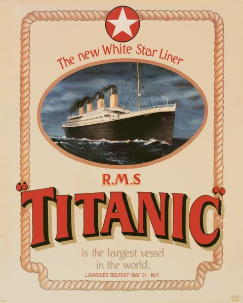 Titanic Poster - US Draft Size