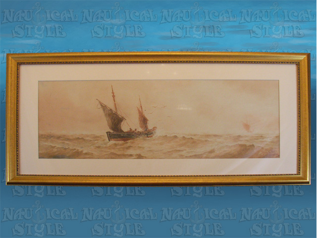 Watercolour by W.H. Pearson, 'Running for Port'