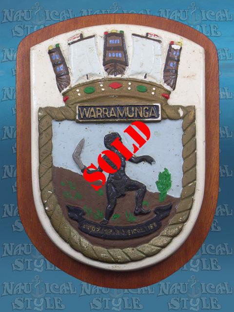 RAN Ship's Badge, HMAS Warramunga (I), Circa 1943