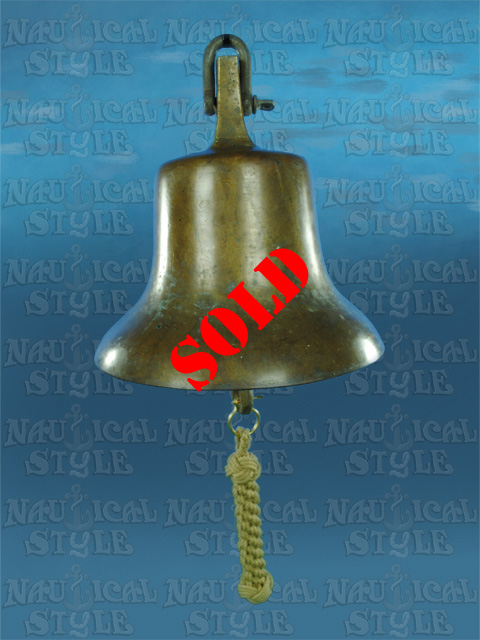 """Bronze Ship's Bell 24cm (9.5"""") - Ex. Solomon Islands"""