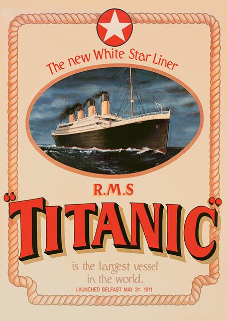 Poster, White Star Line RMS Titanic