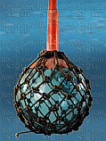 Fishing Buoy - Large Japanese Blue-Green Glass