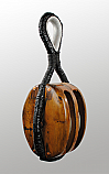 Block - Large Wood and Iron Twin Shear (Pulley)