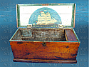 Sailor-Art Decorated Pine Sea Chest - Late 19th Century