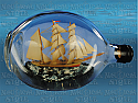 Ship-in-a-Bottle, Three-masted Barque